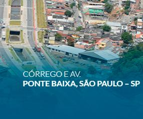 Córrego e Av. Ponte Baixa, São Paulo – SP