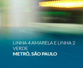 Linha 4 Amarela e Linha 2 Verde Metrô, São Paulo
